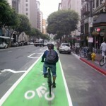 Green Bike Lane in Los Angeles