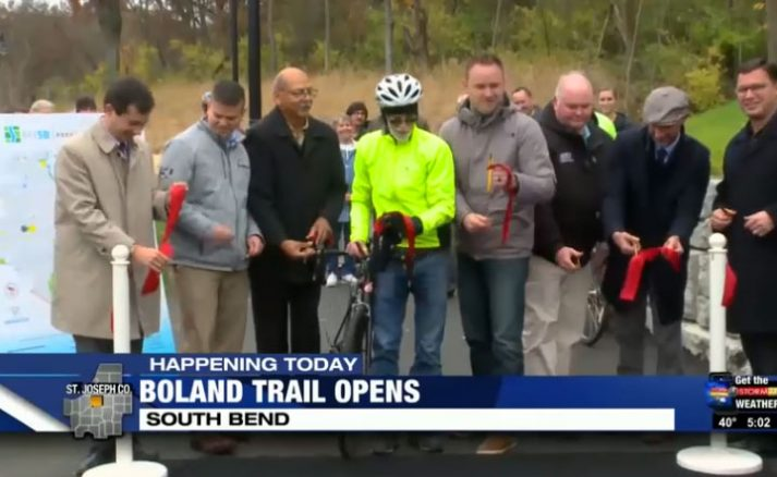 South Bend celebrates completion of Boland Trail with ribbon-cutting